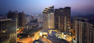 The conference venue and hotel, Grand Hyatt Shenzhen