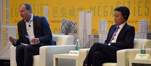 CTBUH Trustee Steve Watts, Partner, Alinea Consulting & Jianping Gu, General Manager, Shanghai Tower C&D